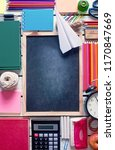 top view of various stationery... | Shutterstock . vector #1170847669