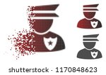 policeman icon in fractured ...   Shutterstock .eps vector #1170848623