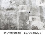 grungy empty concrete wall with ... | Shutterstock . vector #1170850273
