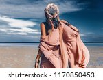 young stylish woman with... | Shutterstock . vector #1170850453