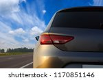 silver car and on the road | Shutterstock . vector #1170851146