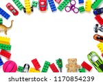 toys collection isolated on... | Shutterstock . vector #1170854239