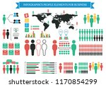 collection of infographic... | Shutterstock .eps vector #1170854299