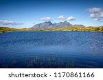 lake in norway mountains ... | Shutterstock . vector #1170861166