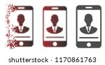 mobile manager contact icon in... | Shutterstock .eps vector #1170861763