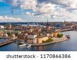 scenic summer aerial panoramic... | Shutterstock . vector #1170866386