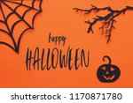 halloween holiday concept.... | Shutterstock . vector #1170871780