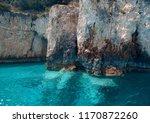 blue caves on zakynthos island  ... | Shutterstock . vector #1170872260