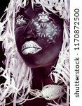 creative makeup like ethiopian... | Shutterstock . vector #1170872500