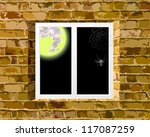 view on the moon | Shutterstock .eps vector #117087259