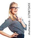 young pretty student modern... | Shutterstock . vector #1170872653