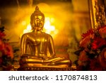 yellow gold buddha and golden... | Shutterstock . vector #1170874813