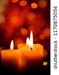 candles light. christmas... | Shutterstock . vector #1170875056