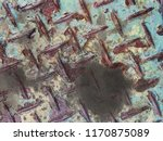dirty stain on old steel texture | Shutterstock . vector #1170875089