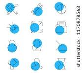 vector illustration of 12 ui...