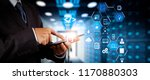 coding software developer work... | Shutterstock . vector #1170880303