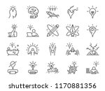 creativity icon set. included... | Shutterstock .eps vector #1170881356