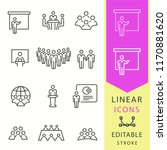 conference icons set. black... | Shutterstock .eps vector #1170881620