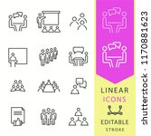conference icons set. black... | Shutterstock .eps vector #1170881623