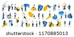 isometric big set businessmen... | Shutterstock .eps vector #1170885013