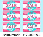 big sale. set of gift cards at... | Shutterstock .eps vector #1170888253