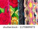 mexican traditional textiles | Shutterstock . vector #1170889873
