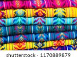 mexican traditional textiles | Shutterstock . vector #1170889879