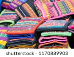 mexican traditional textiles | Shutterstock . vector #1170889903