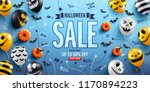 halloween sale promotion poster ... | Shutterstock .eps vector #1170894223