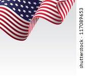 usa flag  raster version  ... | Shutterstock . vector #117089653