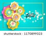 happy diwali. paper graphic of...   Shutterstock .eps vector #1170899323