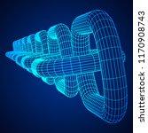 wireframe blockchain links.... | Shutterstock . vector #1170908743