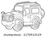 cartoon funny off road vector...   Shutterstock .eps vector #1170913129