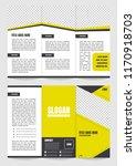 tri fold brochure template... | Shutterstock .eps vector #1170918703