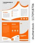 tri fold brochure template... | Shutterstock .eps vector #1170918706