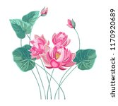 composition of pink lotus... | Shutterstock .eps vector #1170920689