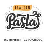 pasta vector logo badge with...   Shutterstock .eps vector #1170928030