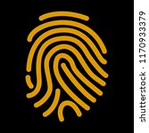 fingerprint scan icon. vector... | Shutterstock . vector #1170933379