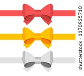 red  gold  silver color bow... | Shutterstock . vector #1170935710