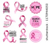 breast cancer logo set.... | Shutterstock .eps vector #1170944053