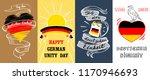deutschen einheit banner set.... | Shutterstock .eps vector #1170946693