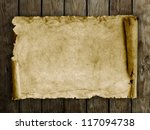old paper on the wood background | Shutterstock . vector #117094738