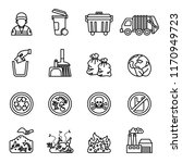 garbage  waste icon set on...   Shutterstock .eps vector #1170949723