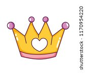 metal crown object with heart... | Shutterstock .eps vector #1170954220