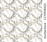 floral seamless pattern with... | Shutterstock .eps vector #1170958423