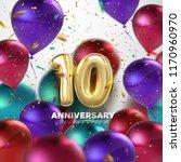 10th anniversary celebration.... | Shutterstock .eps vector #1170960970