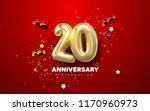 20th anniversary celebration.... | Shutterstock .eps vector #1170960973