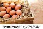 Close Up Of Organic Fresh Eggs...