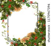 merry christmas greeting card... | Shutterstock .eps vector #1170967396