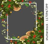 merry christmas greeting card... | Shutterstock .eps vector #1170967399